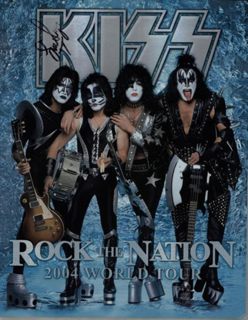 Kiss Rock The Nation 2004 World Tour Signed By Eric