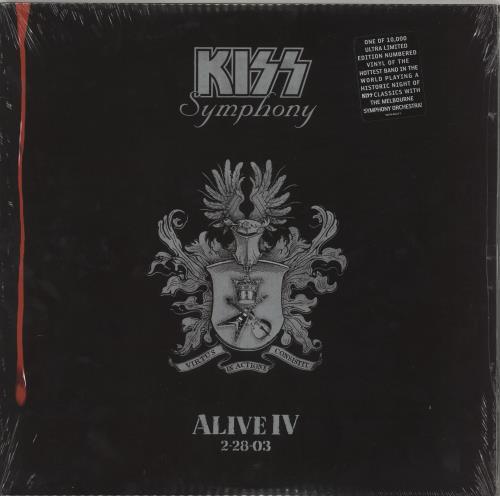 Kiss Symphony - Alive IV - Sealed 3-LP vinyl record set (Triple Album) US KIS3LSY715209