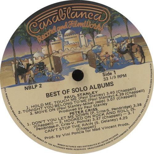 Kiss The Best Of The Solo Albums vinyl LP album (LP record) Australian KISLPTH14372