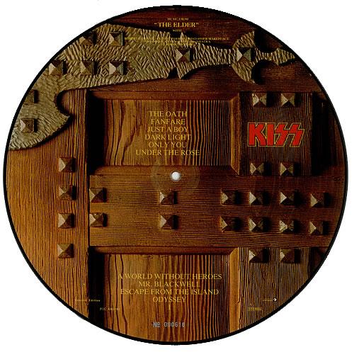 Kiss The Elder picture disc LP (vinyl picture disc album) Dutch KISPDTH00897
