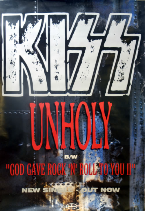 Kiss Unholy poster UK KISPOUN606102