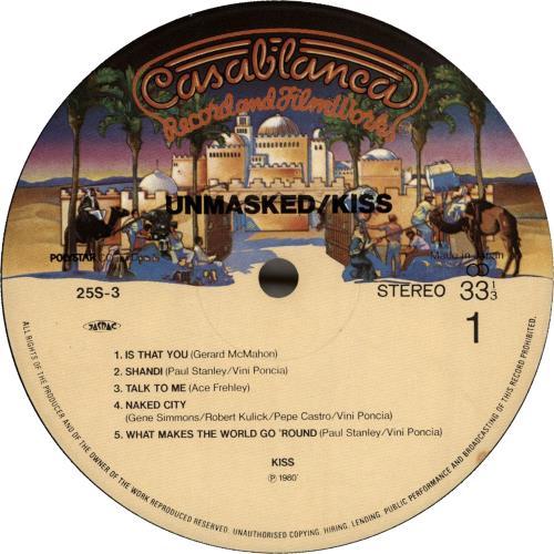 Kiss Unmasked - 2nd vinyl LP album (LP record) Japanese KISLPUN694718