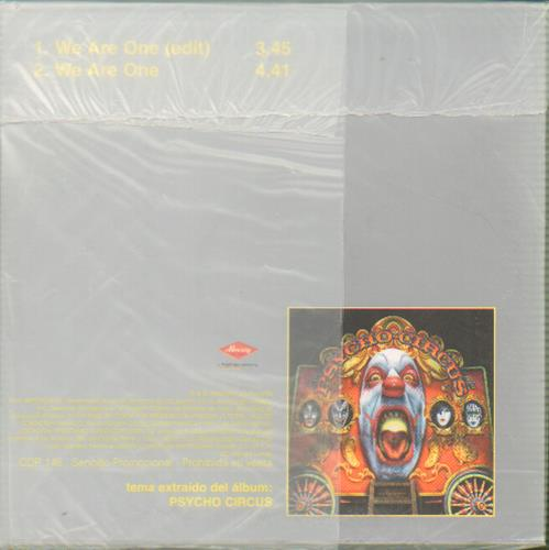 """Kiss We Are One CD single (CD5 / 5"""") Mexican KISC5WE131823"""