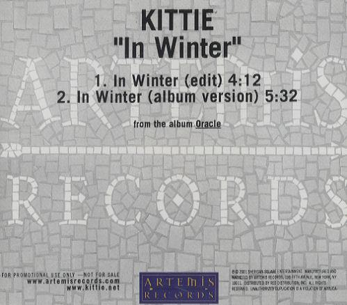 "Kittie In Winter CD single (CD5 / 5"") US KTIC5IN215925"