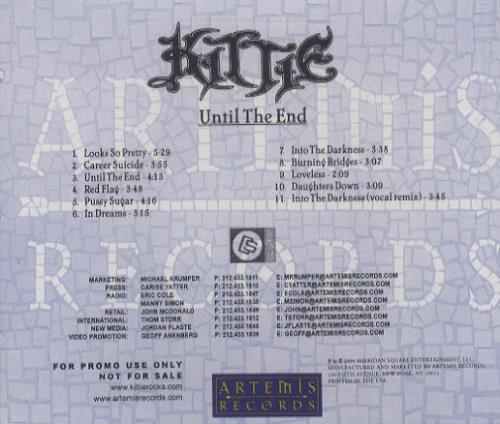 Kittie Until The End CD album (CDLP) US KTICDUN297616