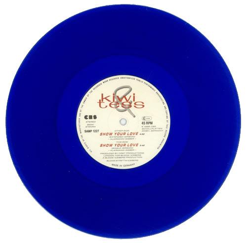 """Kiwi & Tess Show Your Love (Extended Version) - Blue Vinyl 10"""" vinyl single (10"""" record) German KJ410SH517626"""