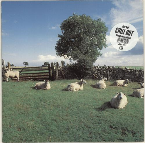 KLF Chill Out - Stickered Sleeve vinyl LP album (LP record) UK KLFLPCH24960