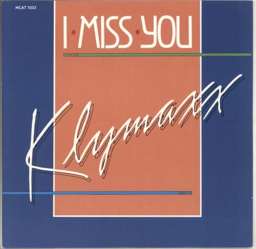 "Klymaxx Miss You 12"" vinyl single (12 inch record / Maxi-single) UK XXK12MI660183"