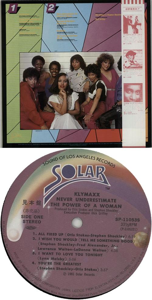 Klymaxx Never Underestimate The Power Of A Woman vinyl LP album (LP record) Japanese XXKLPNE630390