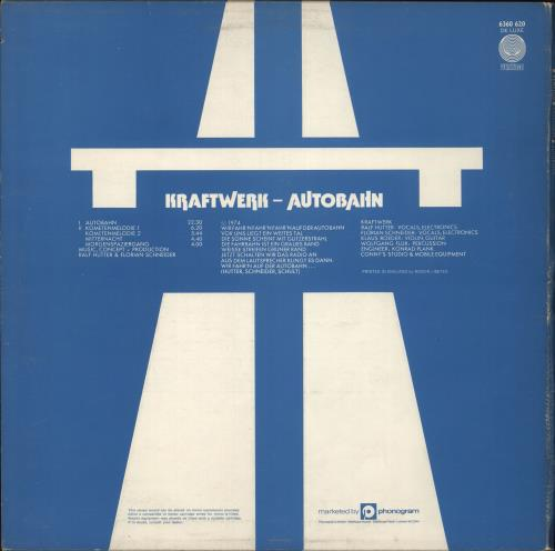 Kraftwerk Autobahn - 1st - EX vinyl LP album (LP record) UK KRALPAU229830