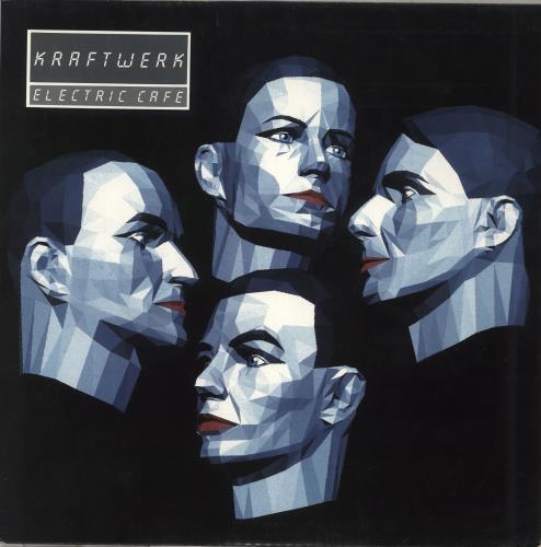 Kraftwerk Electric Cafe - Sample Stickered Sleeve vinyl LP album (LP record) UK KRALPEL712597