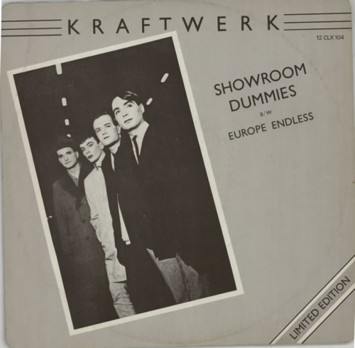 "Kraftwerk Showroom Dummies 12"" vinyl single (12 inch record / Maxi-single) UK KRA12SH20422"