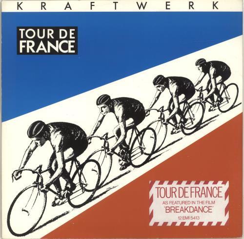 "Kraftwerk Tour De France - Yellow Label + Stickered sleeve 12"" vinyl single (12 inch record / Maxi-single) UK KRA12TO699595"