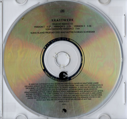 "Kraftwerk Tour De France 03 CD single (CD5 / 5"") UK KRAC5TO252868"