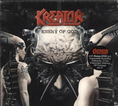 Kreator Enemy Of God + DVD 2-disc CD/DVD set German KR62DEN701409