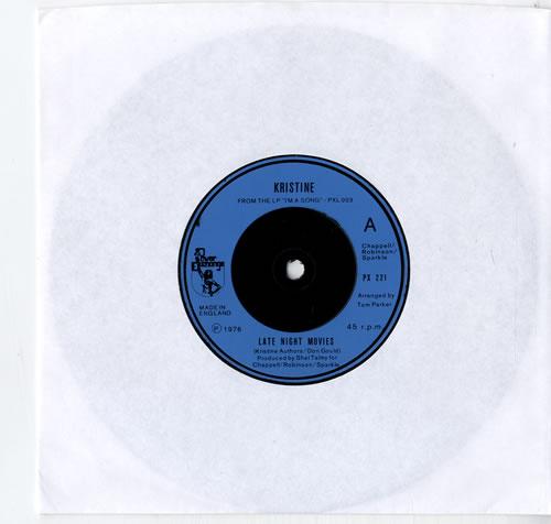 "Kristine Late Night Movies 7"" vinyl single (7 inch record) UK KRN07LA615107"
