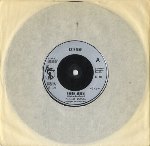 "Kristine Photo Album 7"" vinyl single (7 inch record) UK KRN07PH567496"