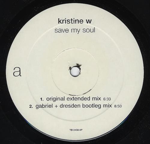 "Kristine W Save My Soul 12"" vinyl single (12 inch record / Maxi-single) US KRW12SA283186"