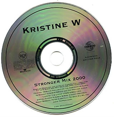 "Kristine W Stronger Mix 2000 CD single (CD5 / 5"") US KRWC5ST313156"