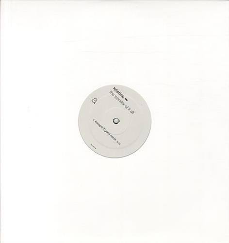 "Kristine W The Wonder Of It All 12"" vinyl single (12 inch record / Maxi-single) US KRW12TH342258"