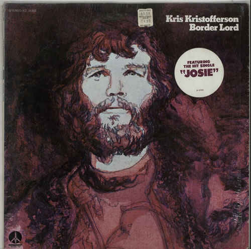 Kris Kristofferson Border Lord - stickered shrink vinyl LP album (LP record) US KRSLPBO642248
