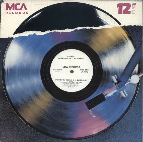 "Krokus Everybody Rocks 12"" vinyl single (12 inch record / Maxi-single) US KRO12EV708402"