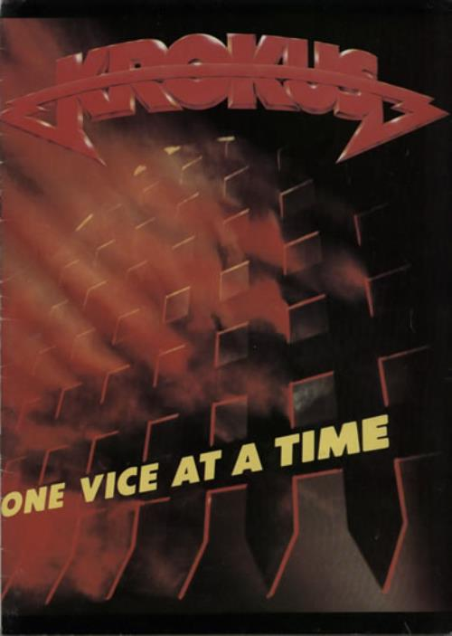 Krokus One Vice At A Time tour programme UK KROTRON567370