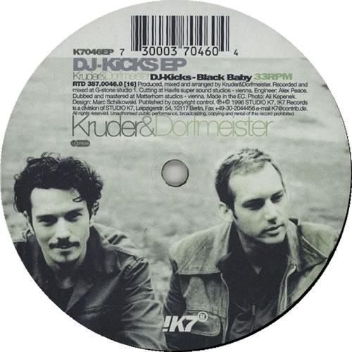 "Kruder & Dorfmeister Black Baby 12"" vinyl single (12 inch record / Maxi-single) German KB112BL633802"