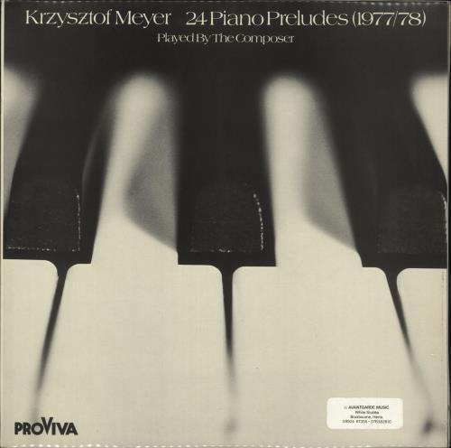 Krzysztof Meyer 24 Piano Preludes, Sonata Per Violino Solo Op.36, Per Fluato Solo Op.52 2-LP vinyl record set (Double Album) German 0R02LPI730926