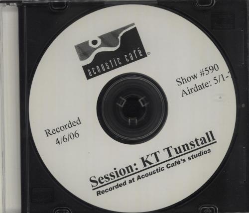 KT Tunstall Acoustic Cafe Session CD-R acetate US KT-CRAC682562