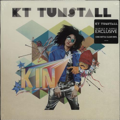 KT Tunstall Kin - Coke Bottle Clear Vinyl vinyl LP album (LP record) US KT-LPKI667614