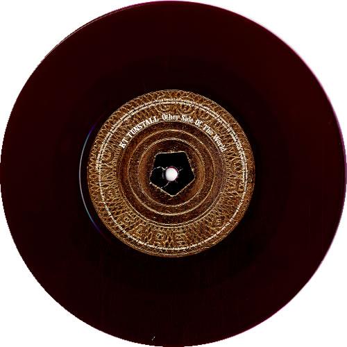 "KT Tunstall Other Side of The World - Burgundy Vinyl 7"" vinyl single (7 inch record) UK KT-07OT323677"