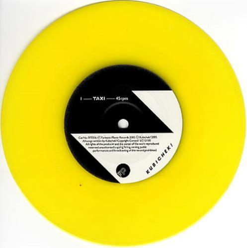 "Kubichek Taxi - Yellow Vinyl 7"" vinyl single (7 inch record) UK KB807TA350517"