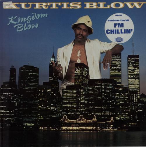 Kurtis Blow Kingdom Blow - Gold promo stamped vinyl LP album (LP record) UK KUWLPKI588374