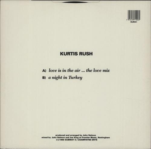 "Kurtis Rush (aka Gary Barlow) Love Is In The Air 12"" vinyl single (12 inch record / Maxi-single) UK K-R12LO33826"
