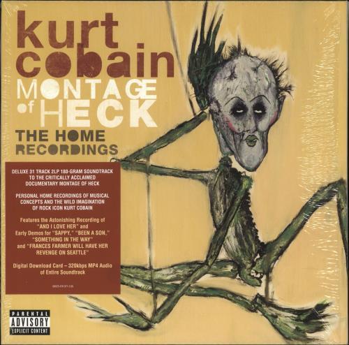 Kurt Cobain Montage Of Heck: The Home Recordings - 180gm Vinyl + Shrink 2-LP vinyl record set (Double Album) UK KRT2LMO731857