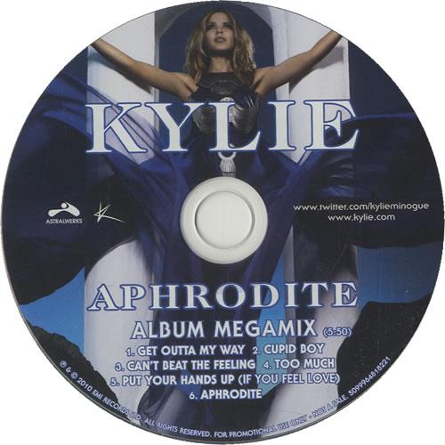 """Kylie Minogue Aphrodite Megamix CD single (CD5 / 5"""") US KYLC5AP516616"""