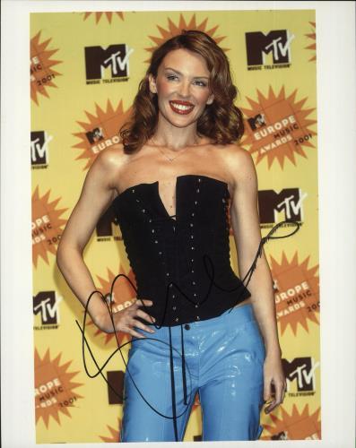Kylie Minogue Autographed Photo photograph UK KYLPHAU721719