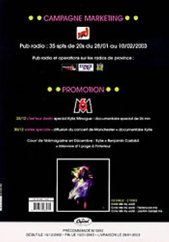 Kylie Minogue Come Into My World: Un Hit Europeen! handbill French KYLHBCO241338