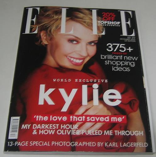 Kylie Minogue Elle Magazine magazine UK KYLMAEL391373