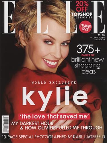 Kylie Minogue Elle Magazine magazine UK KYLMAEL391376
