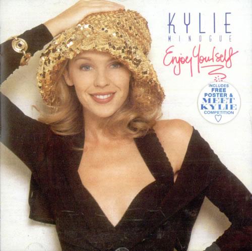 Kylie Minogue Enjoy Yourself + Poster & Sticker CD album (CDLP) UK KYLCDEN49815