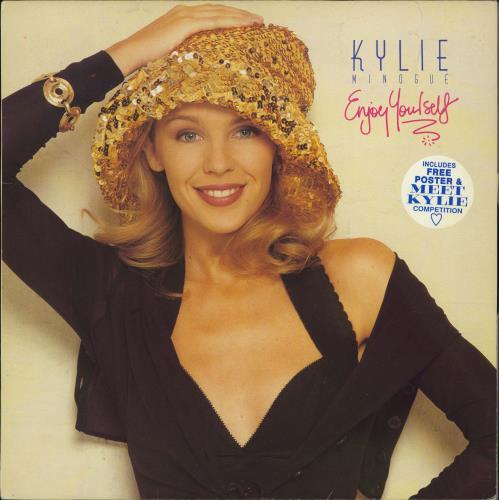 Kylie Minogue Enjoy Yourself + Poster - EX vinyl LP album (LP record) UK KYLLPEN774256
