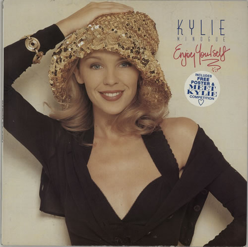 Kylie Minogue Enjoy Yourself + Poster vinyl LP album (LP record) UK KYLLPEN45822