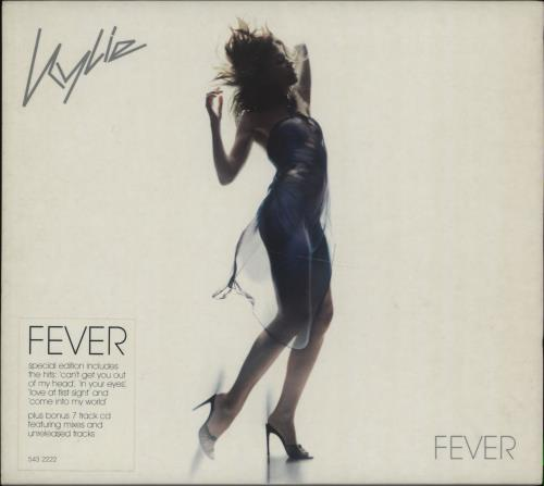 Kylie Minogue Fever - Stickered sleeve 2 CD album set (Double CD) UK KYL2CFE224004