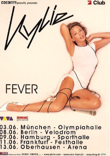 Kylie Minogue Fever handbill German KYLHBFE353678