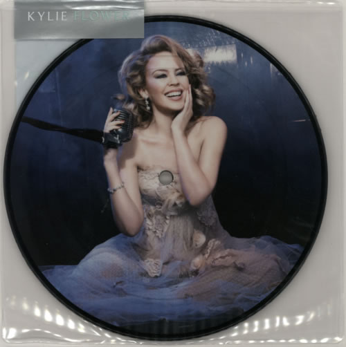 "Kylie Minogue Flower 7"" vinyl picture disc 7 inch picture disc single UK KYL7PFL577580"