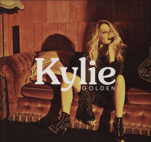 Kylie Minogue Golden vinyl LP album (LP record) UK KYLLPGO750519