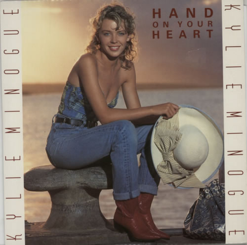 """Kylie Minogue Hand On Your Heart - picture sleeve 12"""" vinyl single (12 inch record / Maxi-single) UK KYL12HA02996"""