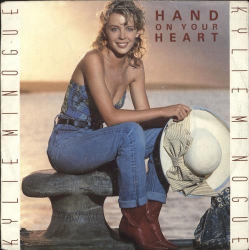 "Kylie Minogue Hand On Your Heart 7"" vinyl single (7 inch record) Dutch KYL07HA03012"